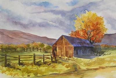 Poster featuring the painting Sonora Barn by Pat Crowther