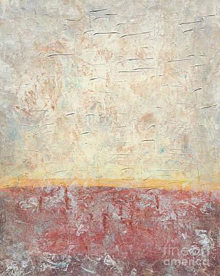 Sonoran Desert #2 Southwest Vertical Landscape Original Fine Art Acrylic On Canvas Poster