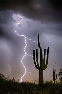 Sonoran Desert Monsoon Storming Poster