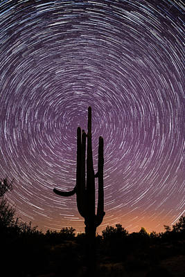 Sonoran Star Trails Poster
