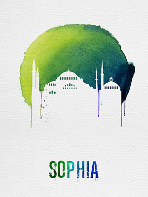 Sophia Landmark Red Poster by Naxart Studio