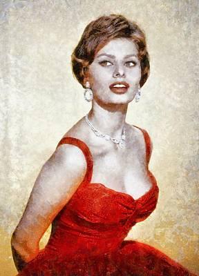 Sophia Loren Hollywood Actress Poster