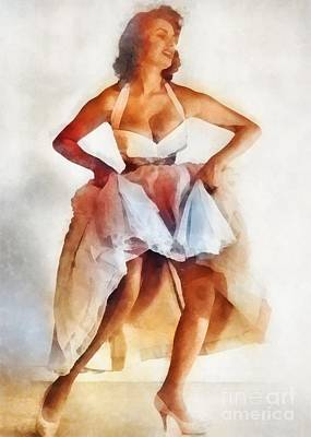 Sophia Loren, Vintage Hollywood Actress Poster by Frank Falcon
