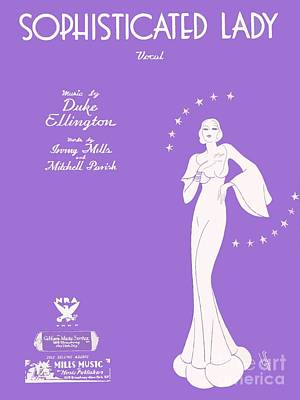 Sophisticated Lady Sheet Music Art Poster