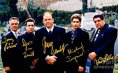 Sopranos Autographed Cast Photograph Poster by Pd