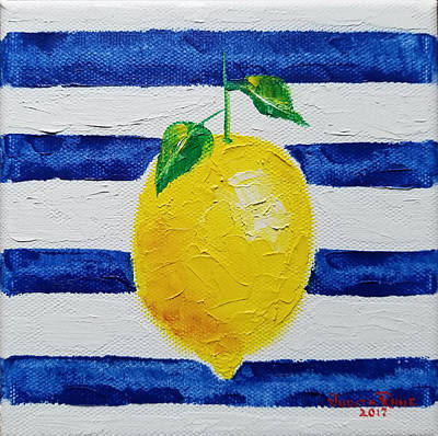 Poster featuring the painting Sorrento Lemon by Judith Rhue
