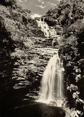 Sossego Waterfall Poster by Amarildo Correa