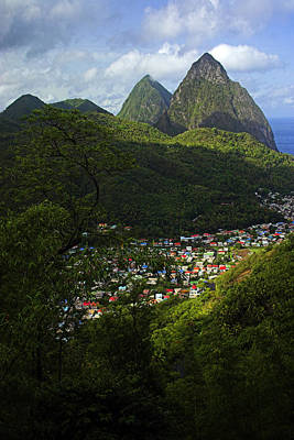 Poster featuring the photograph Soufriere Village- St Lucia by Chester Williams