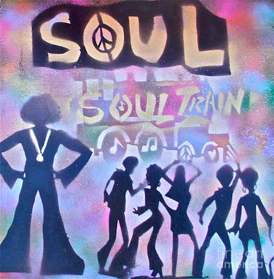 Soul Train 1 Poster by Tony B Conscious
