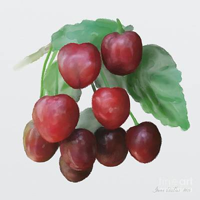 Poster featuring the painting Sour Cherry by Ivana Westin
