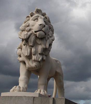 South Bank Lion.  Poster