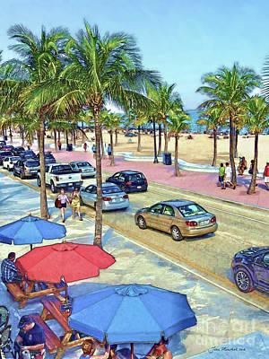 South Beach Florida Poster by Joan Minchak
