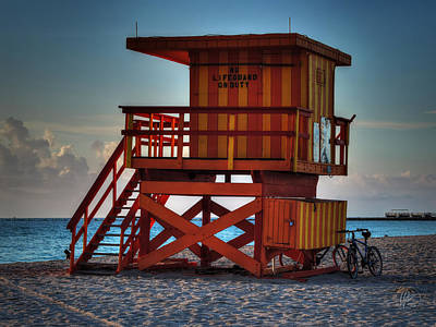 South Beach Lifeguard Station 002 Poster by Lance Vaughn