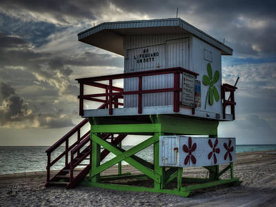 South Beach Lifeguard Station 006 Poster by Lance Vaughn