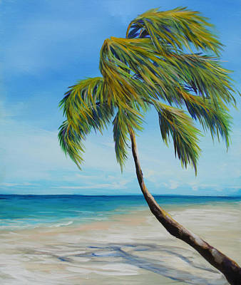 South Beach Palm Poster by Michele Hollister - for Nancy Asbell