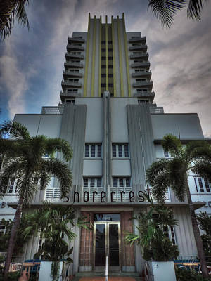 South Beach - Shorecrest Hotel 001 Poster by Lance Vaughn