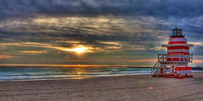 South Beach Sunrise Poster