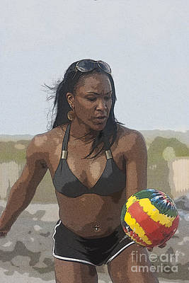 South Beach Volleyball Poster