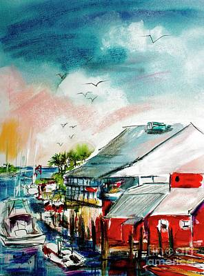 South Carolina Shem Creek Morning Poster