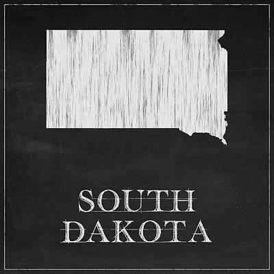 South Dakota - Chalk Poster