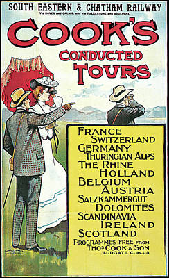 South Eastern And Chatham Railway Cooks Conducted Tours Poster by Dennis Fitzsimmons