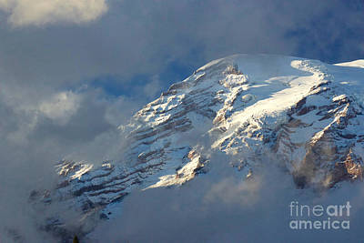 South Face - Mount Rainier Poster by Sean Griffin