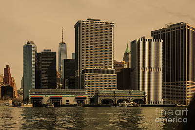 South Ferry And Lower Manhattan 20117 Poster by Thomas Marchessault