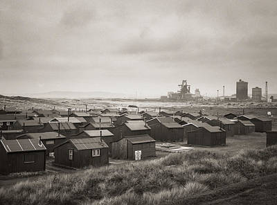 South Gare Teeside Fishing Huts Poster by Ian Barber