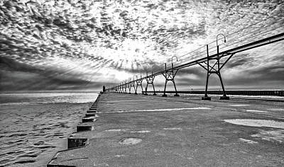 South Haven Pier Wide Angle Poster