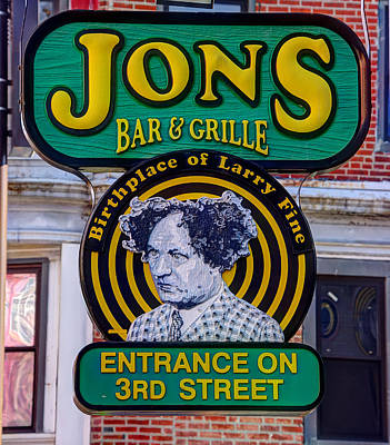 South Philly Skyline - Birthplace Of Larry Fine Near Jon's Bar And Grille-a - Third And South Street Poster