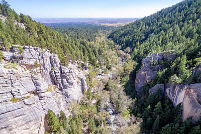 South Piney Canyon Aerial Poster by Jess Kraft