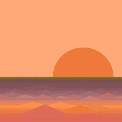 Poster featuring the digital art South Sea Sunrise by Val Arie