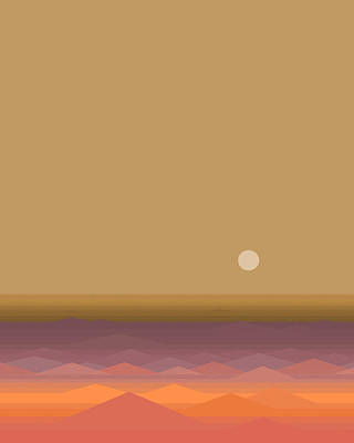 Poster featuring the digital art South Seas Sunrise - Vertical by Val Arie