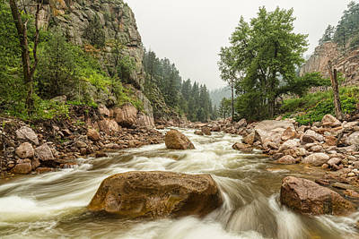 South St Vrain Canyon Boulder County Colorado Poster by James BO  Insogna
