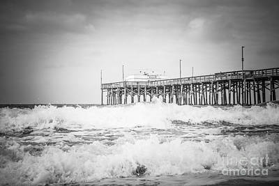 Southern California Pier Black And White Picture Poster by Paul Velgos