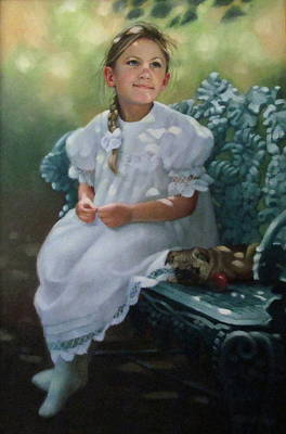 Southern Girl Portrait Poster by Janet McGrath