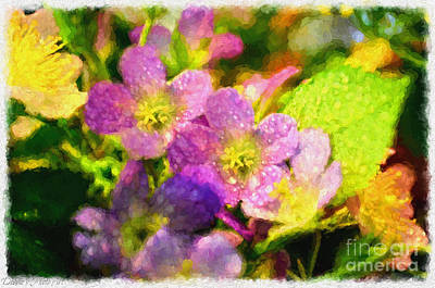 Southern Missouri Wildflowers - Digital Paint  Poster by Debbie Portwood