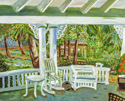 Southern Porches Poster