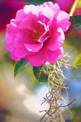 Poster featuring the digital art Southern Rose by Donna Bentley