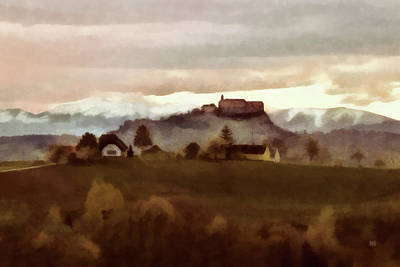 Southern Styria With Castle Riegersburg Poster