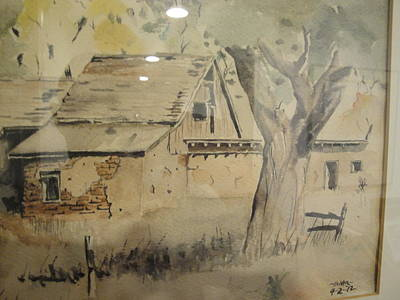 Poster featuring the painting Southland Adobe Barn by Steven Holder