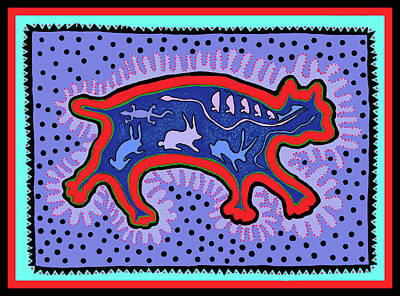 Poster featuring the digital art Southwest Desert Feral Cat by Vagabond Folk Art - Virginia Vivier