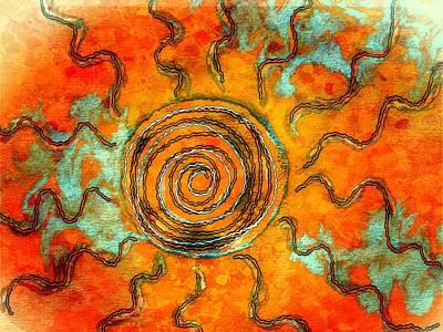 Southwest Desert Sun Poster