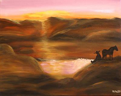 Southwestern Desert Sunset Poster
