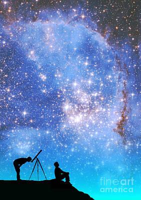 Space Exploration Poster by Larry Landolfi