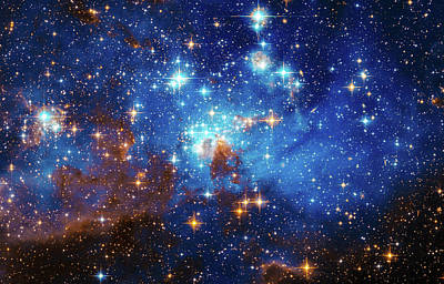 Space Image Stars In The Large Magellanic Cloud Poster