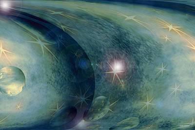 Space Poster by Linda Sannuti