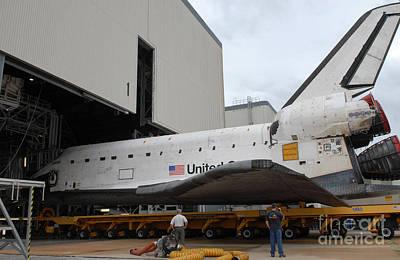 Space Shuttle Atlantis Rolls Poster