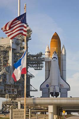 Space Shuttle Atlantis Sitting Poster