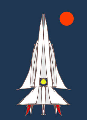 Spaceship Poster by Denny Casto